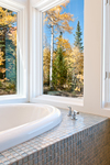 Modern Mountain Architecture,  Winter Park, Colorado | Master Bathroom